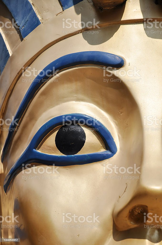 Ancient Egyptian copper  Pharaoh eye stock photo