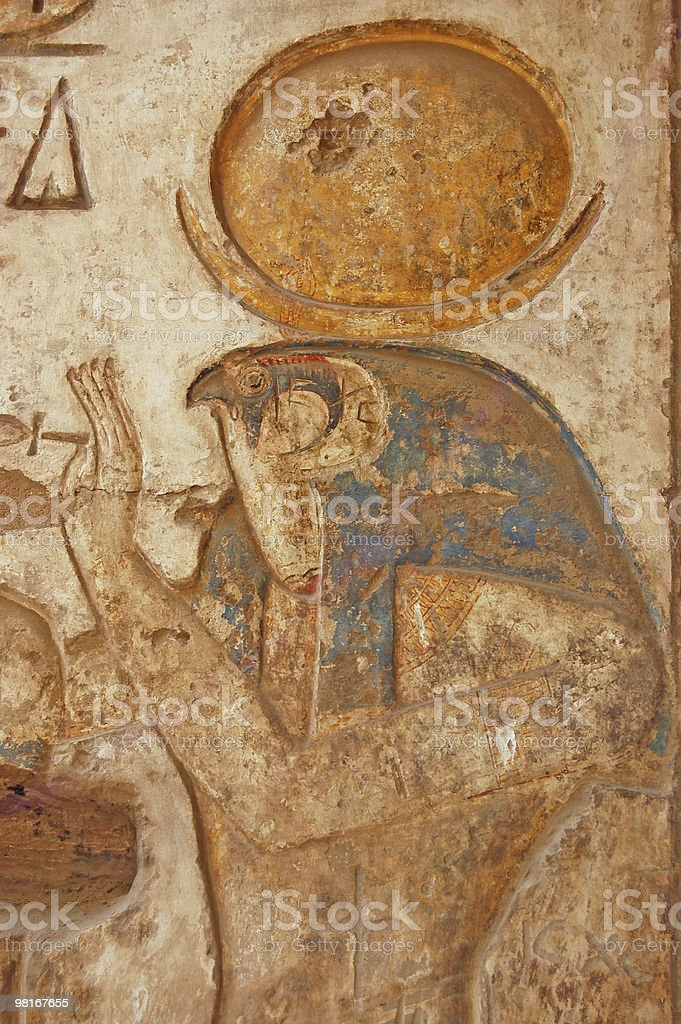 Ancient Egyptian God Horus royalty-free stock photo