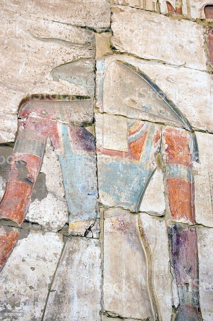 Ancient Egyptian god Khnum royalty-free stock photo