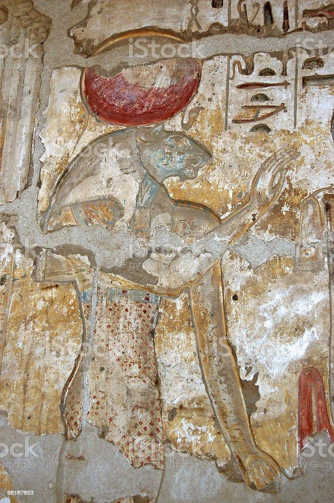 앤시언트 이집트어 가디스 세크메트 royalty-free 스톡 사진