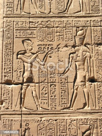 istock Ancient Egyptian Heiroglyphs and Carvings 186846023