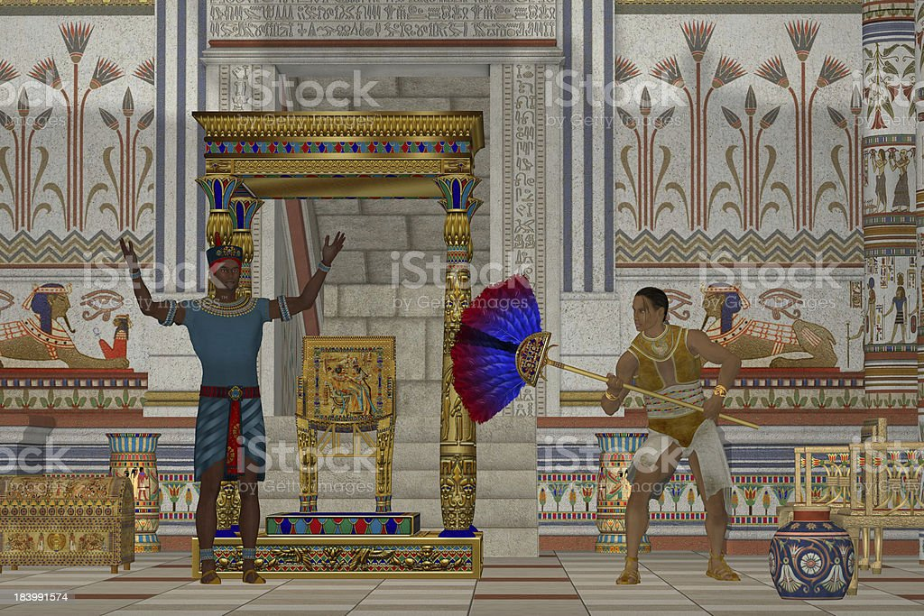 Ancient Egyptian Men royalty-free stock photo