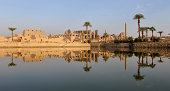 The Ancient (four thousand years old) Egyptian temple complex at Karnak - reflected at dawn