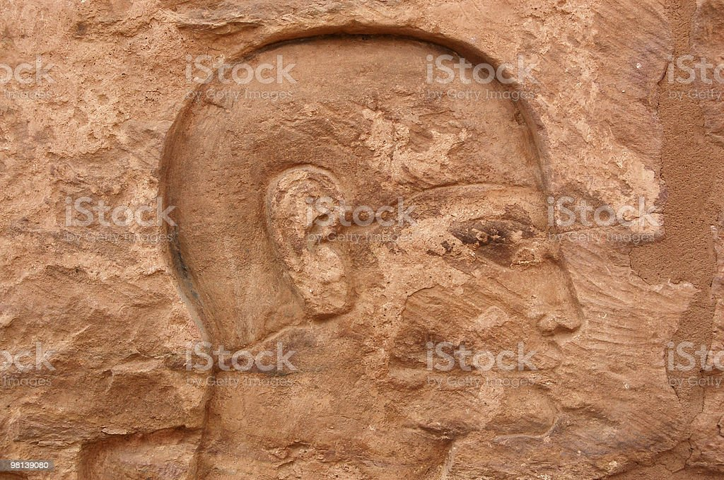 Ancient Egyptian profile royalty-free stock photo
