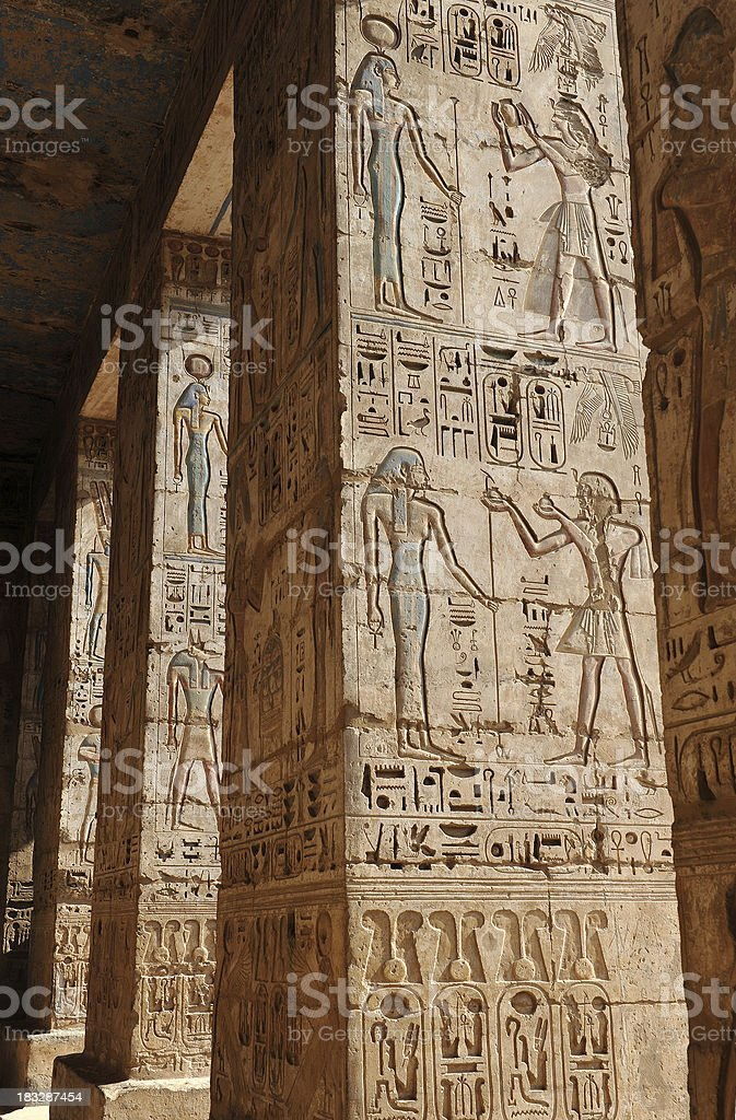 Ancient Egyptian relief stock photo