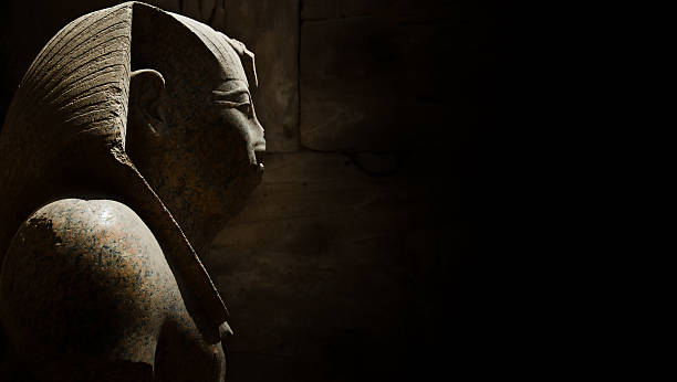 Ancient Egyptian Statue stock photo
