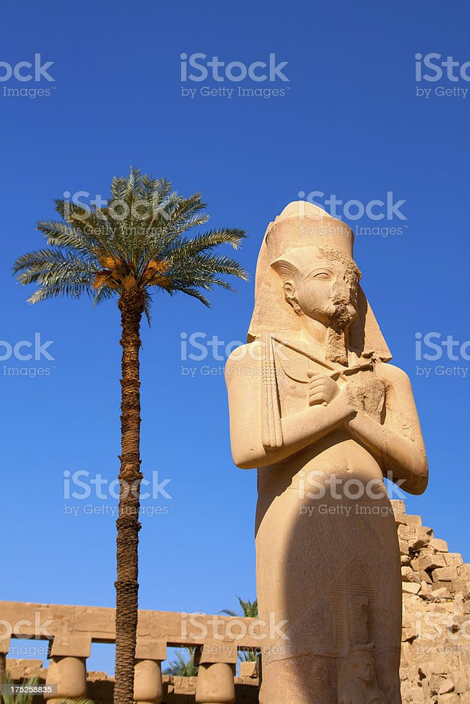 Ancient Egyptian statue royalty-free stock photo