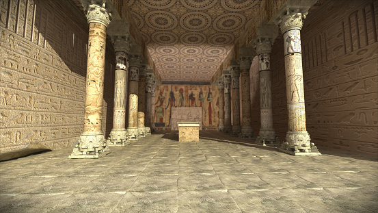 Ancient egyptian temple 3D render