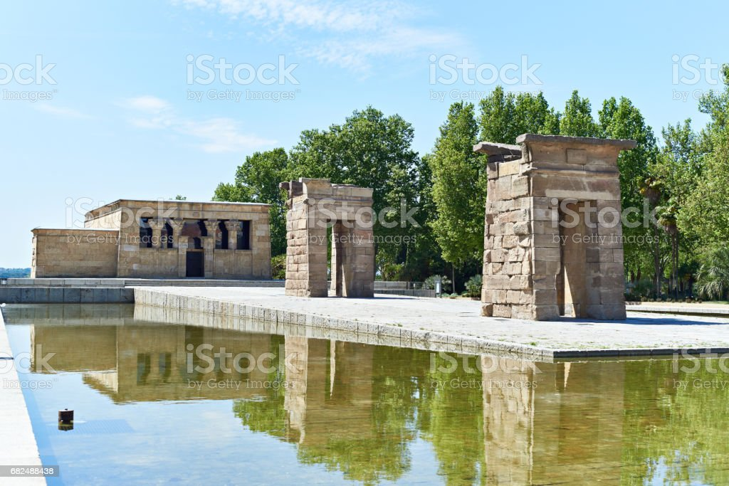 Ancient Egyptian temple of Debod in Madrid royalty-free stock photo