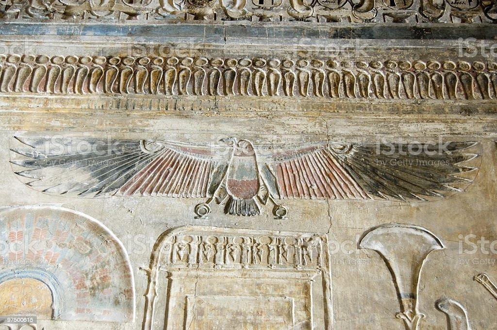 Ancient Egyptian vulture goddess Nekhbet royalty-free stock photo