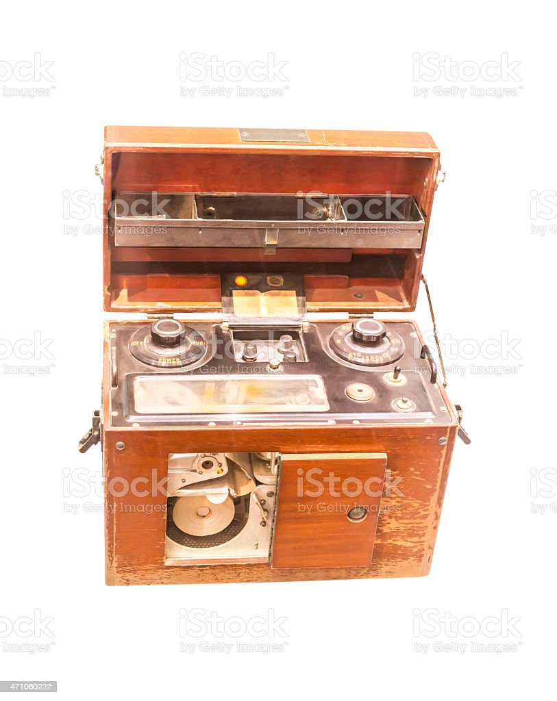 Ancient Electrocardiograph Device stock photo