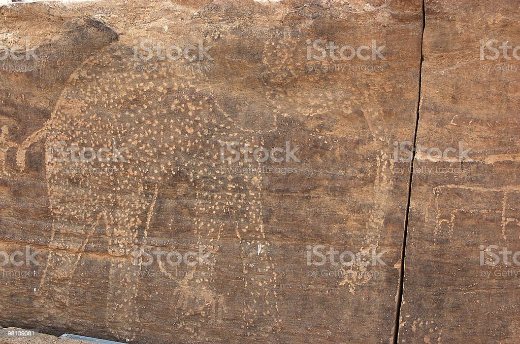 Ancient elephant royalty-free stock photo