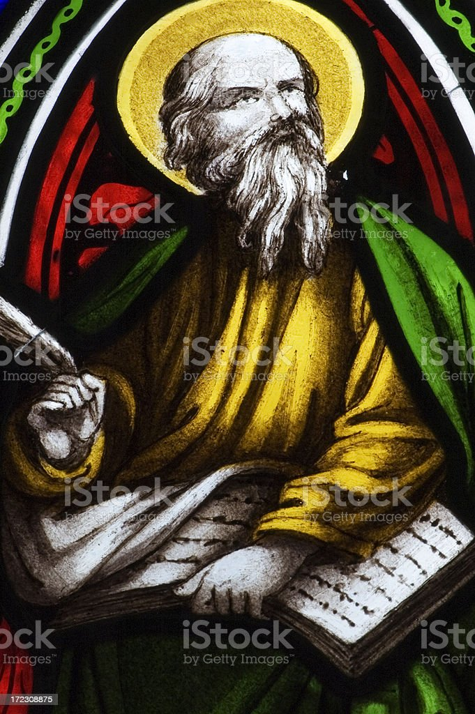 Ancient English Church Stained Glass royalty-free stock photo