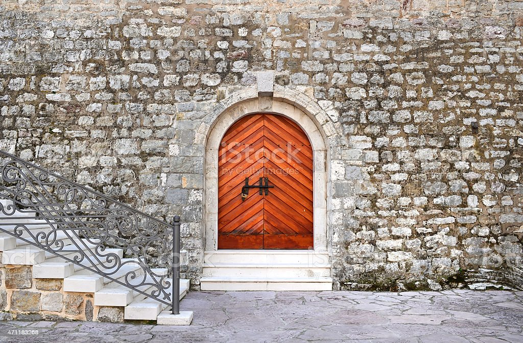 Ancient entrance doors to historical building of the citadel stock photo & Royalty Free Medieval Door Pictures Images and Stock Photos - iStock