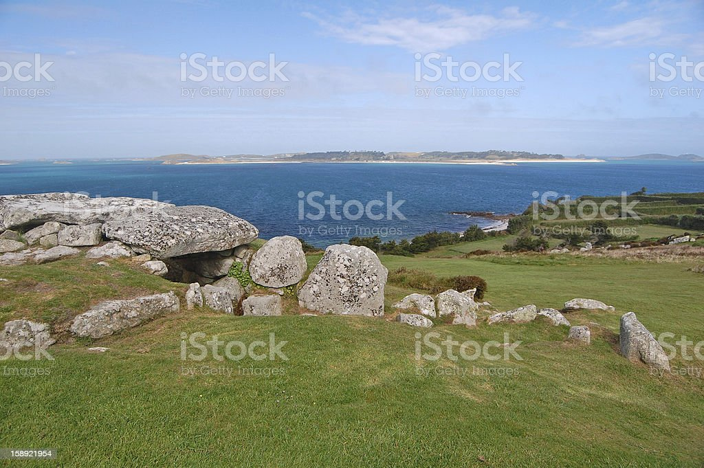 ancient entrance grave royalty-free stock photo