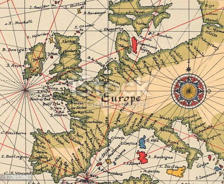 Ancient Europe Map Stock Photo More Pictures Of Ancient Istock