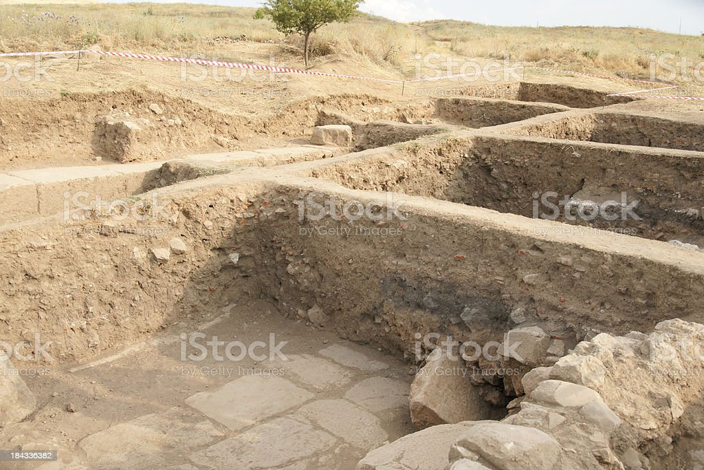 ancient excavation site royalty-free stock photo