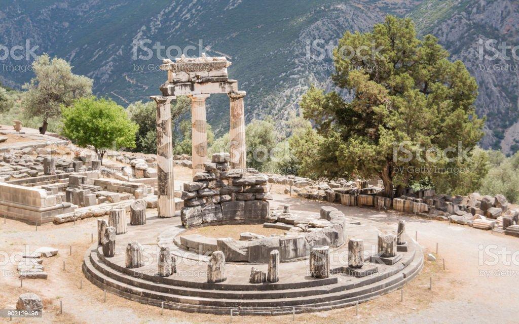 fouilles anciennes à Delphes, Grèce - Photo