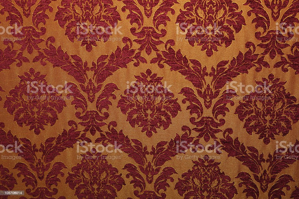 Ancient fabric with patterns stock photo