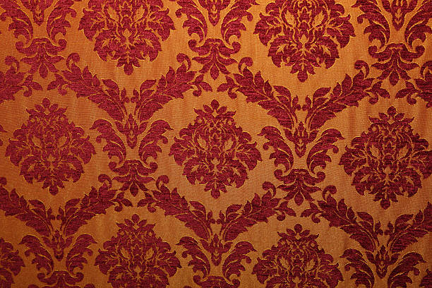 Ancient fabric with patterns  wallpaper sample stock pictures, royalty-free photos & images