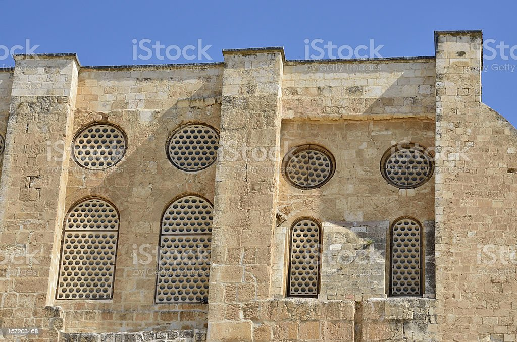 Ancient facade in Old City of Jerusalem. royalty-free stock photo