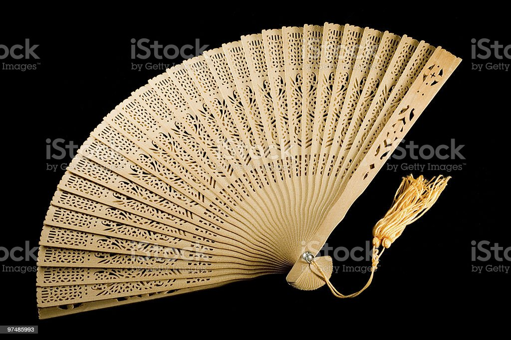 Ancient fan unfolded royalty-free stock photo