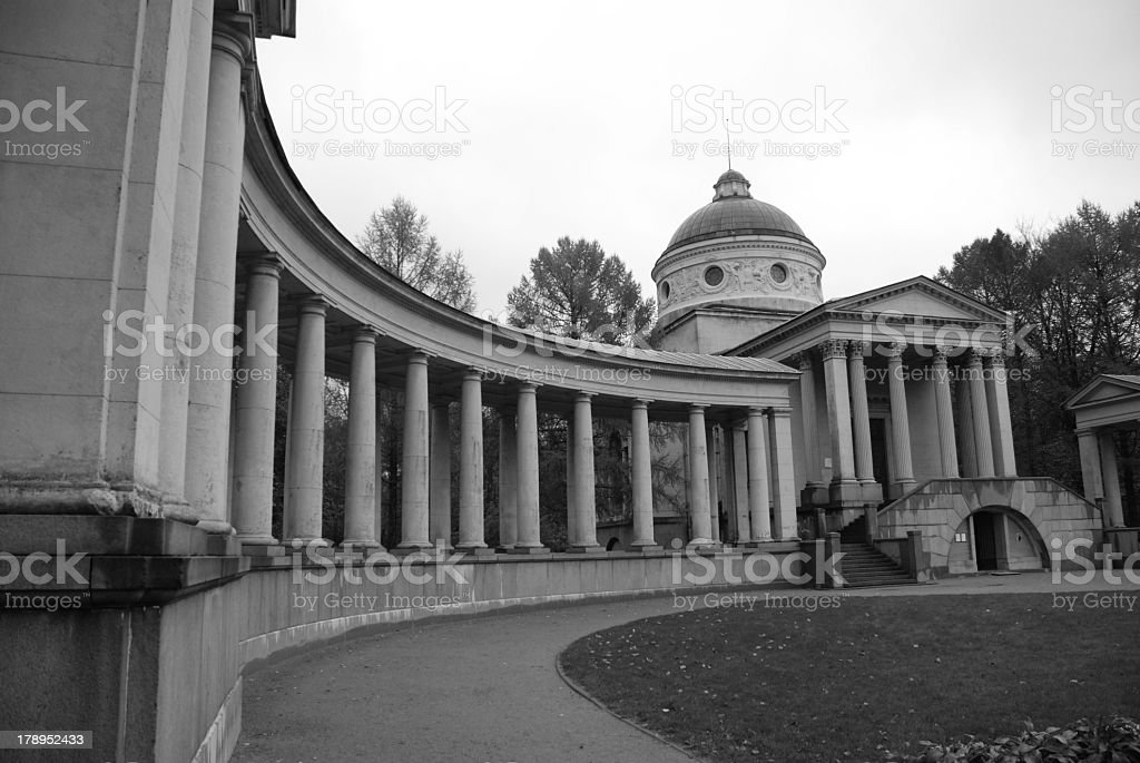 Ancient Farmstead with Beautiful Columns royalty-free stock photo