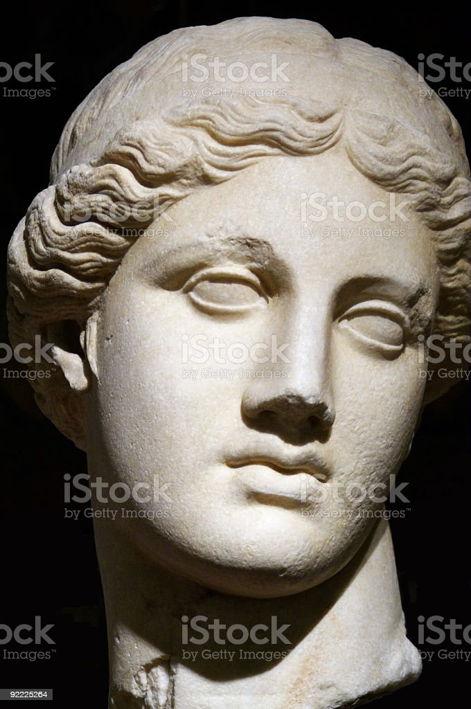 Ancient Female head sculpture royalty-free stock photo