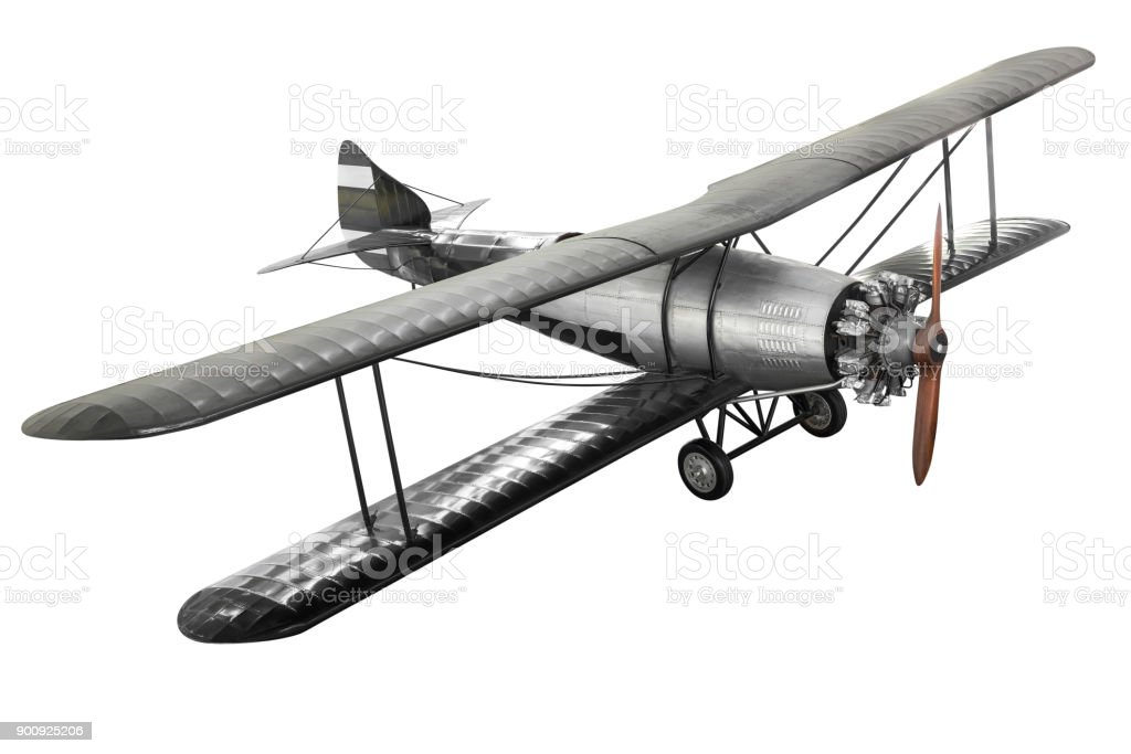 Ancient fight airplane stock photo