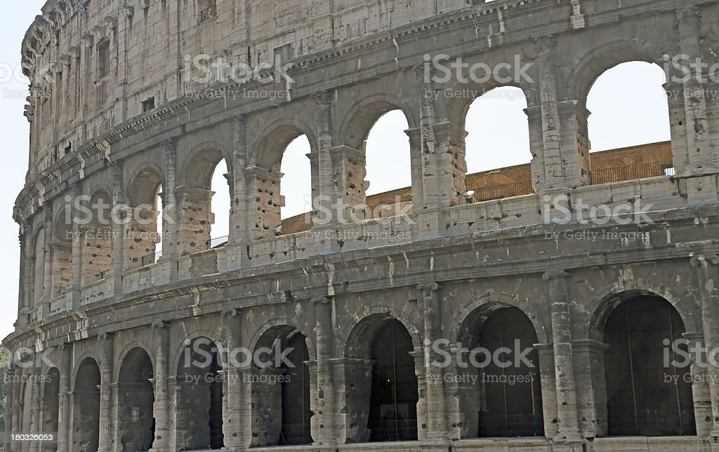 Ancient Flavian Amphitheatre Called the COLOSSEUM stock photo