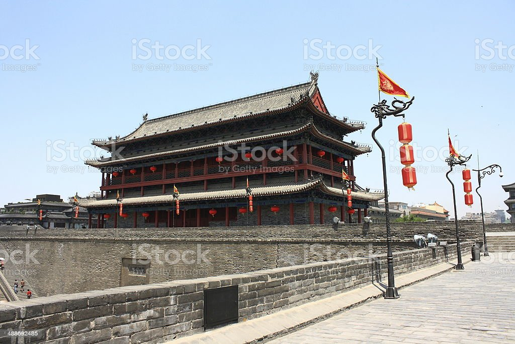 Ancient fortifications of Xi'an stock photo