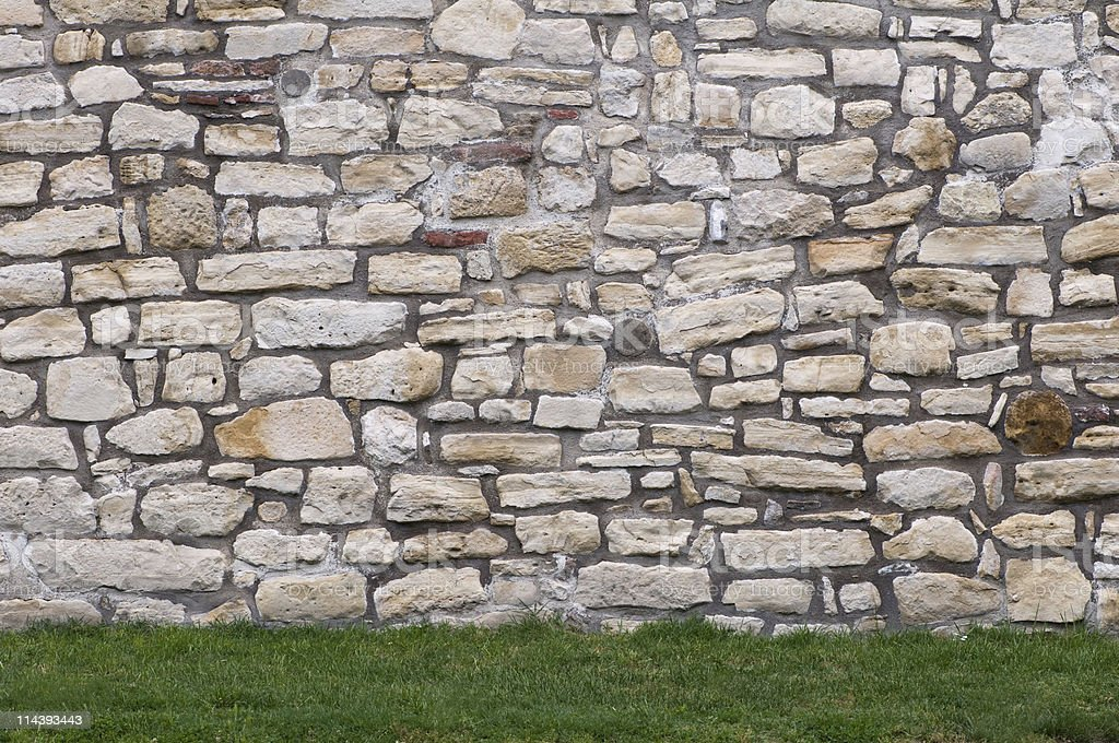 Ancient fortified wall stock photo