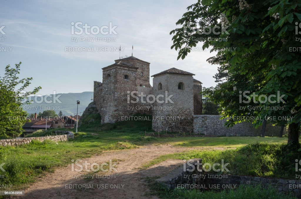 Ancient fortress called Momcilov grad in Pirot city park in Serbia, - Royalty-free Ancient Stock Photo