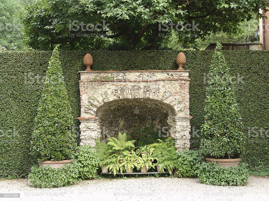 ancient fountain royalty-free stock photo