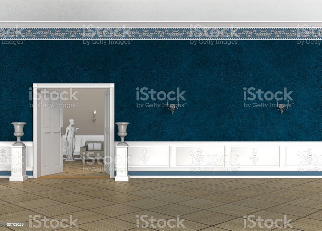 ancient foyer or lobby interior stock photo