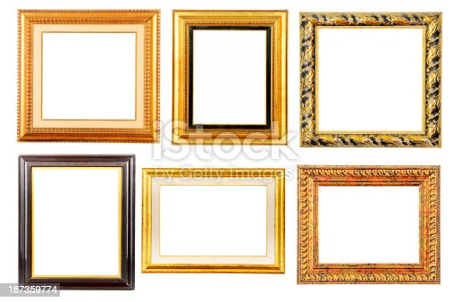 Ancient Frames Collection Isolated Stock Photo & More Pictures of ...
