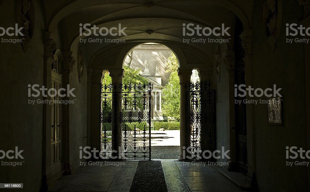 Ancient gate royalty-free stock photo