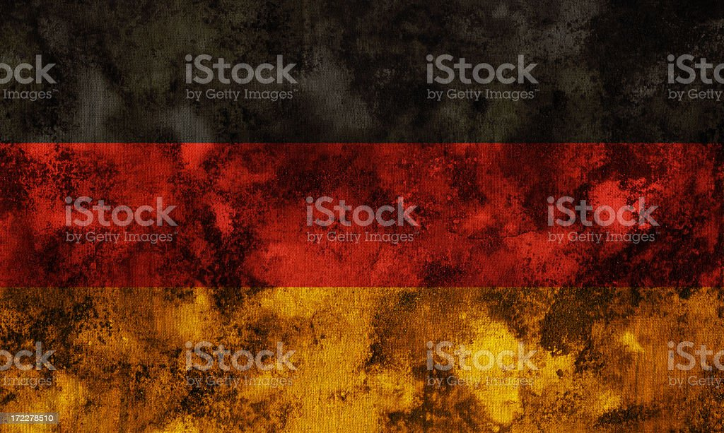 Ancient German Flag royalty-free stock photo
