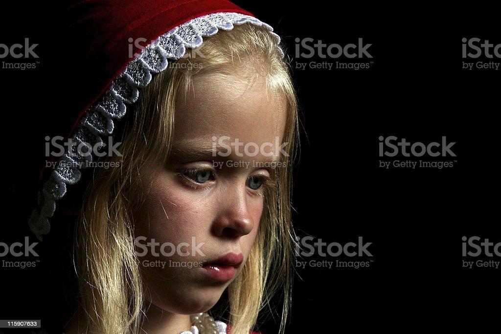 Ancient girl stock photo