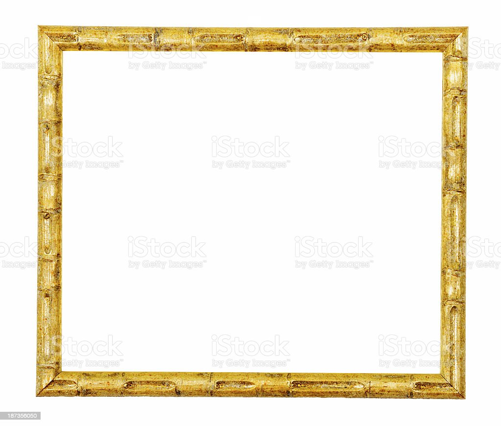 Ancient Gold Frame.Isolated stock photo