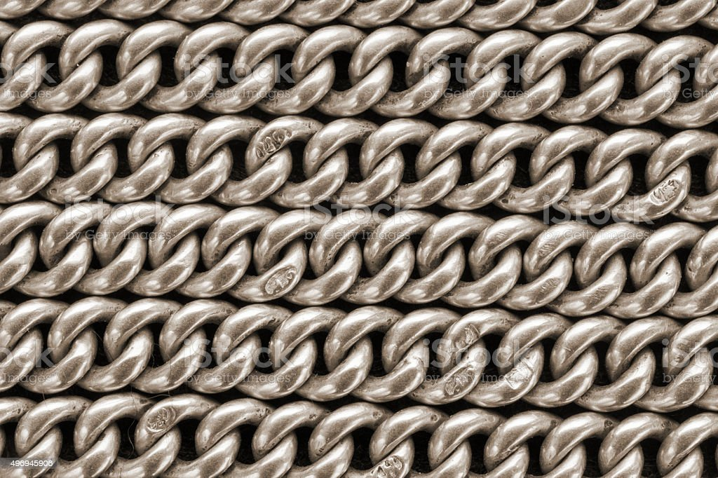 Ancient golden chains stock photo