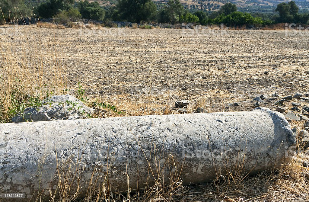 Ancient Gortyna at Crete island in Greece stock photo
