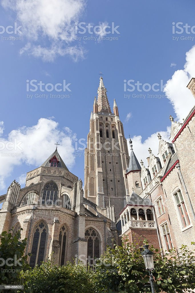 Ancient Gothic architecture in Bruges, Belgium royalty-free stock photo