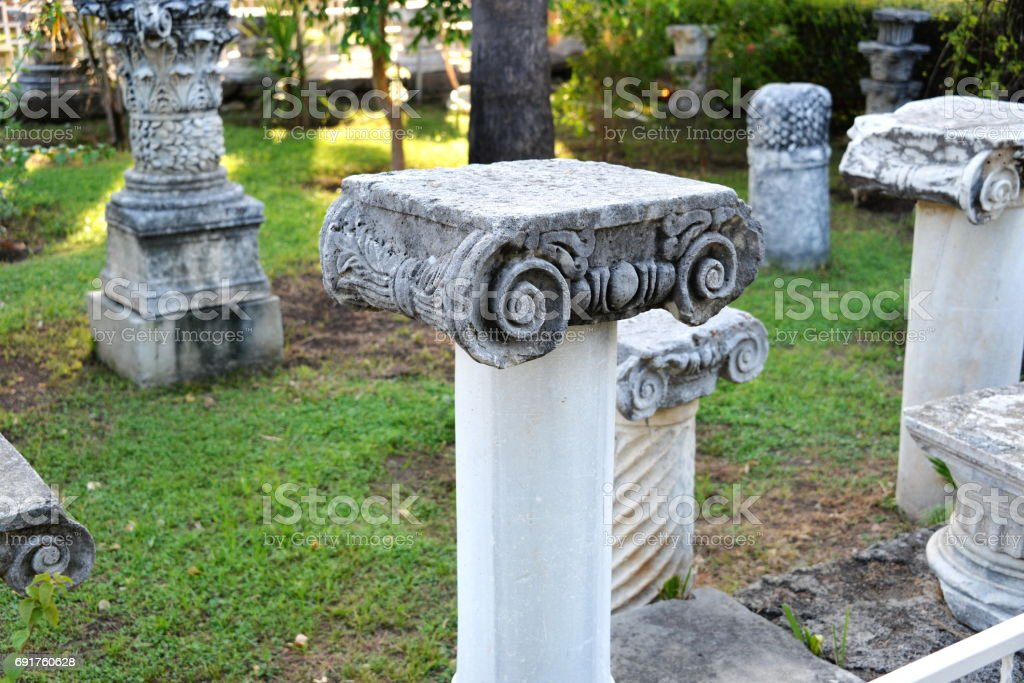 Ancient graves and remains in Antalya stock photo