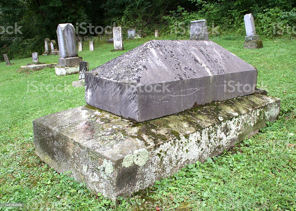 Ancient Graveyard royalty-free stock photo