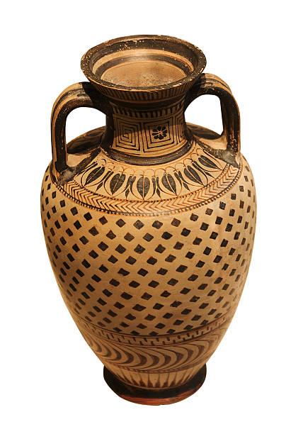 ancient greek ceramic vase stock photo