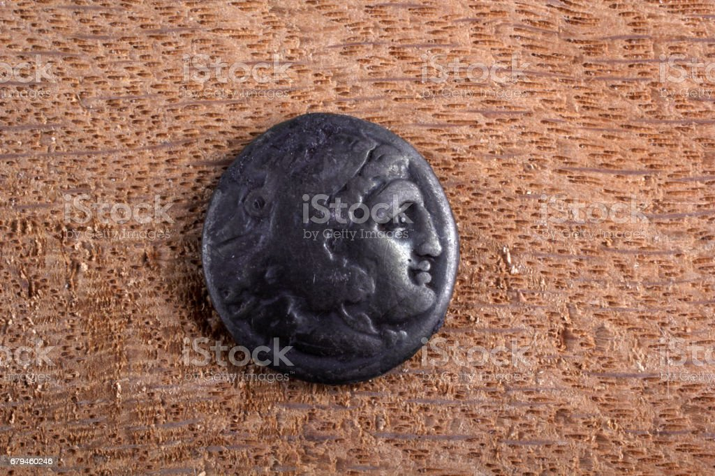 Ancient Greek coin royalty-free stock photo