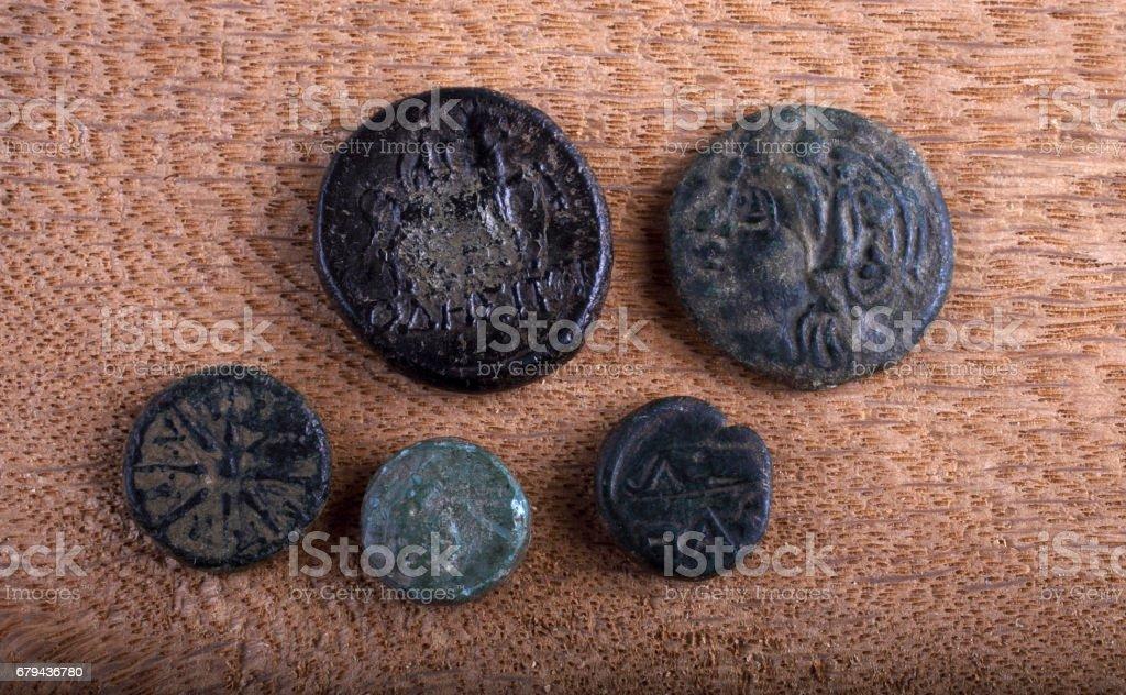 Ancient Greek coins foto de stock royalty-free