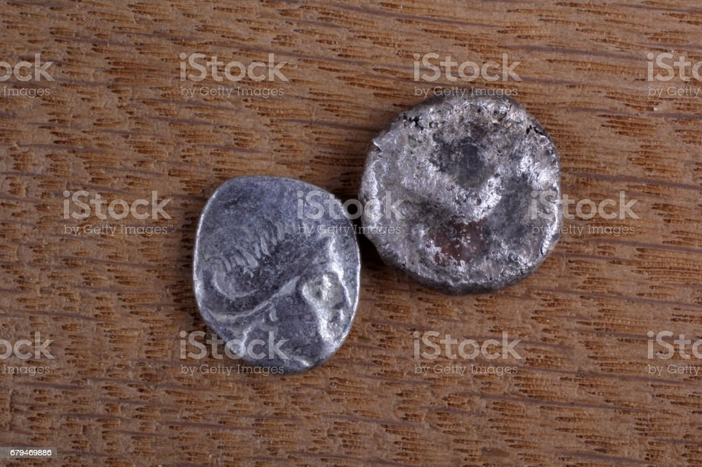 Ancient Greek coins 免版稅 stock photo