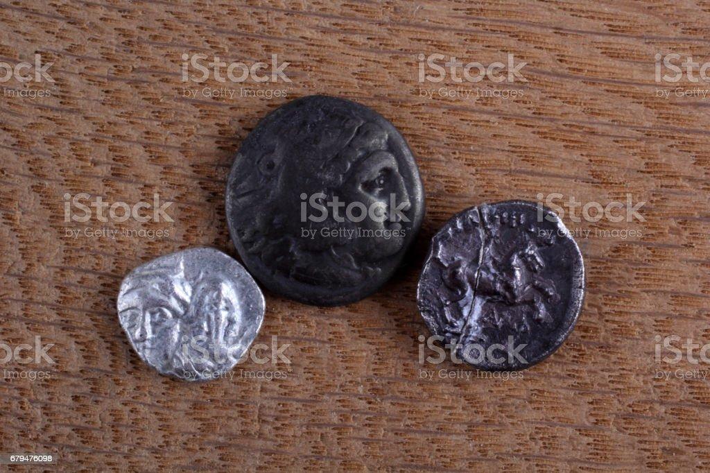 Ancient Greek coins 免版稅 stock photo